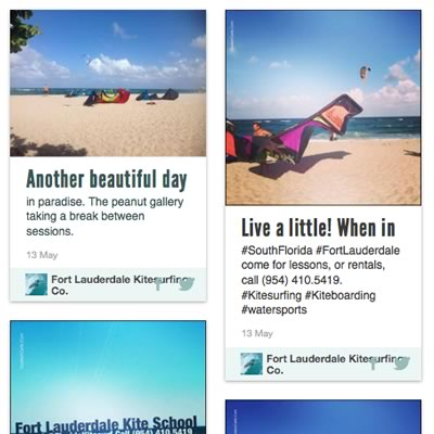 facebook updates on Fort Lauderdale Kitesurfing