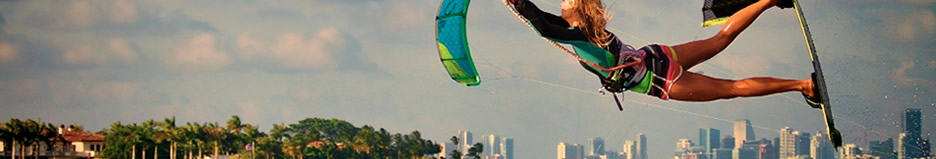 Kitesurfing lessons and equipment for sale or rent in Fort Lauderdale South Florida